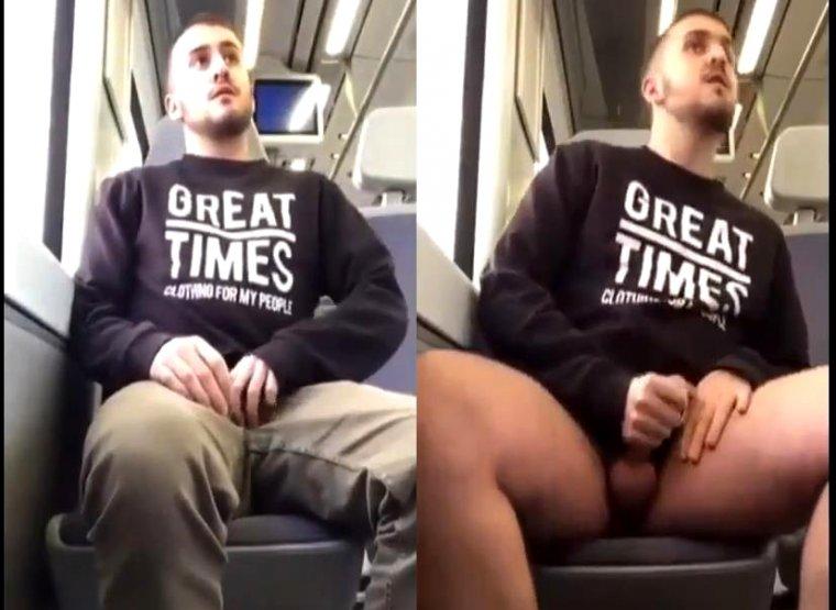 Vídeo: Sem acreditar nessa punheta batida no metrô